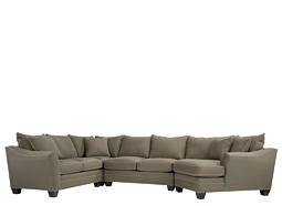 Foresthill 4-pc. Microfiber Sectional Sofa w/ Twin Sleeper