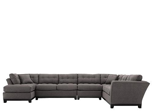 Cindy Crawford Metropolis 4-pc. Microfiber Sectional Sofa : Sectional Sofas : Raymour and ...