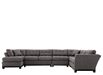 Cindy Crawford Home Metropolis 4-pc. Microfiber Sectional Sofa