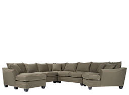 Foresthill 5-pc. Microfiber Sectional Sofa w/ Twin Sleeper