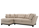 Cindy Crawford Home Metropolis 2-pc. Microfiber Sectional Sofa