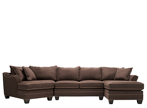 Foresthill 3 Pc Microfiber Sectional Sofa Sectional