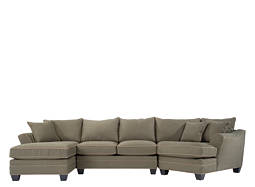 Foresthill 3-pc. Microfiber Sectional Sofa w/ Twin Sleeper