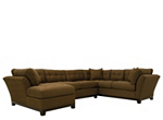 Cindy Crawford Home Metropolis 3-pc. Microfiber Sectional Sofa