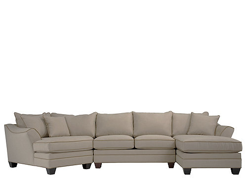 Foresthill 3-pc. Microfiber Sectional Sofa | Sectional ...