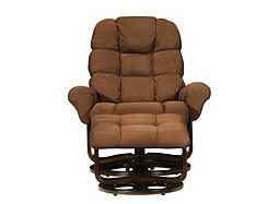 Alfanso Microfiber Reclining Chair and Ottoman