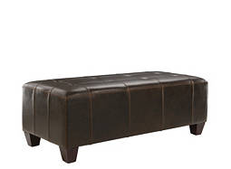 Baltimore Leather Cocktail Ottoman