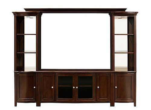 West End 4 Pc Wall Unit W 54 Quot Tv Console And Lighting