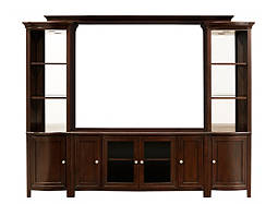 "West End 4-pc. Wall Unit w/ 54"" TV Console and Lighting"