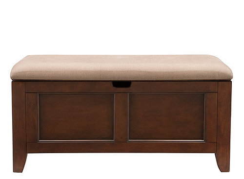 Kylie Chenille Lift Top Storage Bench Benches Raymour