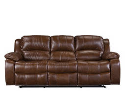 Bryant Leather-Match Reclining Sofa