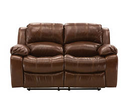Bryant Leather Reclining Loveseat