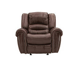 Cole Leather-Match Glider Recliner