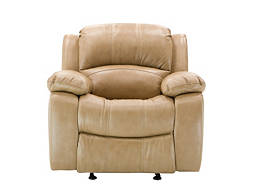 Bryant Leather-Match Glider Recliner