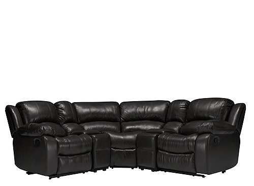 Bryant Ii 5 Pc Leather Reclining Sectional Sofa Sectional Sofas Raymour And Flanigan Furniture