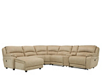 Cindy Crawford Mackenzie 6-pc. Microfiber Power Reclining Sectional Sofa