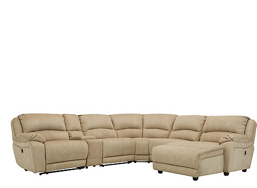Cindy Crawford Mackenzie 6 Pc Power Reclining Sectional