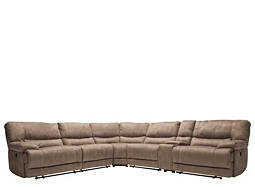 Jameson 6-pc. Microfiber Power-Reclining Sectional Sofa
