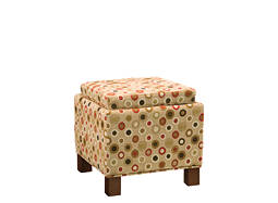 Vegas Microfiber Flip-Top Storage Ottoman w/ Pillows