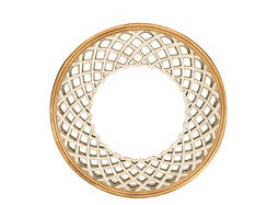 Crisscross Round Wall Mirror