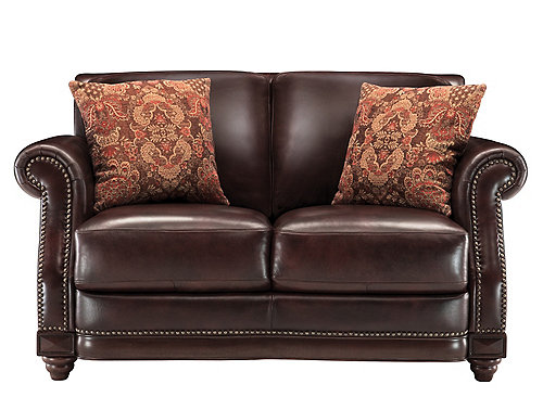 Alexander Leather Loveseat Loveseats Raymour And