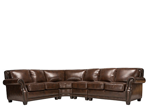 Romano 4 pc leather sectional sofa sofas raymour and for 4 pcs sectional sofa