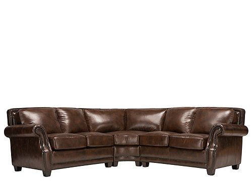 Romano 3 Pc Leather Sectional Sofa Sofas Raymour And