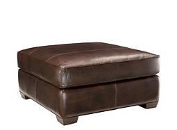 Emery Leather Cocktail Ottoman