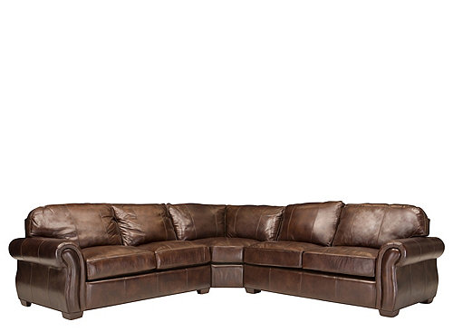 Emery 3 Pc Leather Sectional Sofa W Full Sleeper