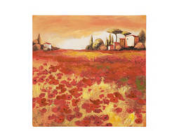 Poppy Field II Canvas Wall Art