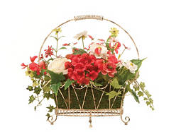 Mixed Flower in a Wire Basket