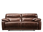 Deacon Leather-Match Power-Reclining Sofa