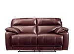 Deacon Leather-Match Power-Reclining Loveseat