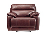 Deacon Leather-Match Recliner