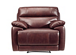 Deacon Leather-Match Power Recliner