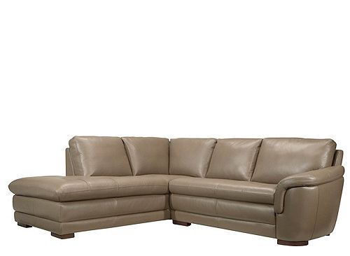 Garrison 2 Pc Leather Sectional Sofa Sectional Sofas