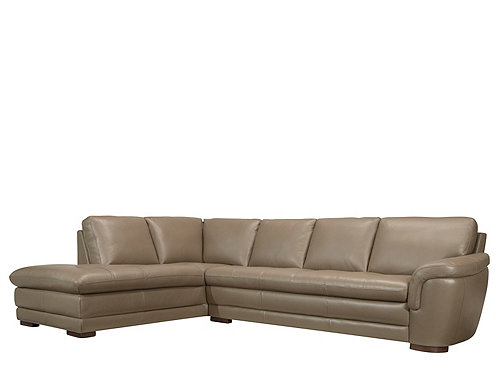 Garrison 2 Pc Leather Sectional Sofa Sectional Sofas Raymour And Flanigan Furniture