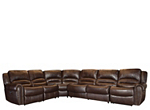 Mason 5-pc. Leather Power-Reclining Sectional Sofa