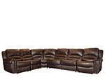 Mason 5-pc. Leather Power-Reclining Sectional Sofa w/ Full Sleeper