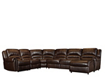 Mason 5-pc. Leather Reclining Sectional Sofa