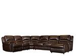 Mason 5-pc. Leather Reclining Sectional Sofa w/ Full Sleeper