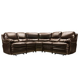 Nelson 3-pc. Bonded-Leather-Match Reclining Sectional Sofa