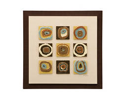 Fused Circles Framed Wall Art