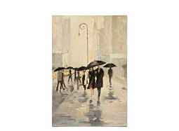 Paris Umbrellas Canvas Wall Art