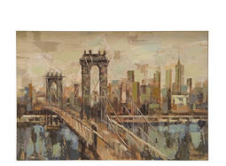 City Bridge Canvas Wall Art