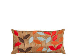 Leaf-Patterned Metallic Kidney Pillow
