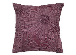 Floral-Patterned Wisteria Throw Pillow