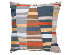 Multicolored Stripe Throw Pillow