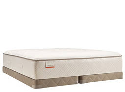 Posturepedic® Blue Meadow Plush Low-Profile Split Queen Mattress Set