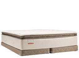 Posturepedic® Blue Meadow Plush Euro Pillowtop Low-Profile Split Queen Mattress Set